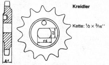 Sprocket KREIDLER 12 teeth