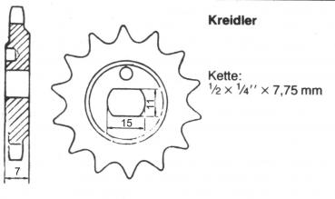 Sprocket KREIDLER 11 teeth