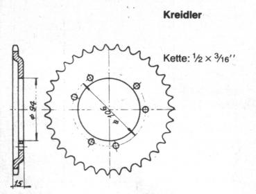 Chain Wheel KREIDLER 36 teeth