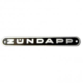 Emblem for seat ZÜNDAPP, rear, black