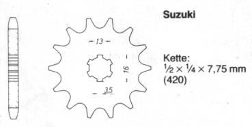 Chain sprocket SUZUKI 12 teeth