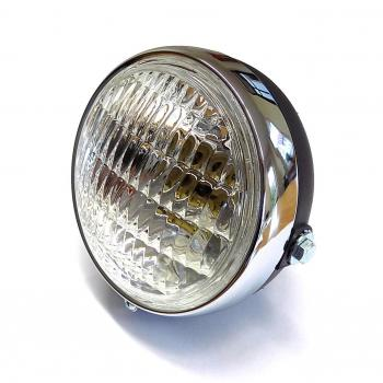 Headlight 125 mm with chrome ring