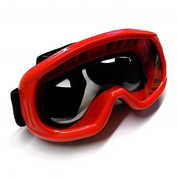 Glasses motocross, red