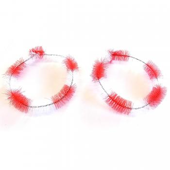 Hub cleaning rings moped, red / white