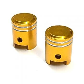 Valve cap set, piston, gold-colored