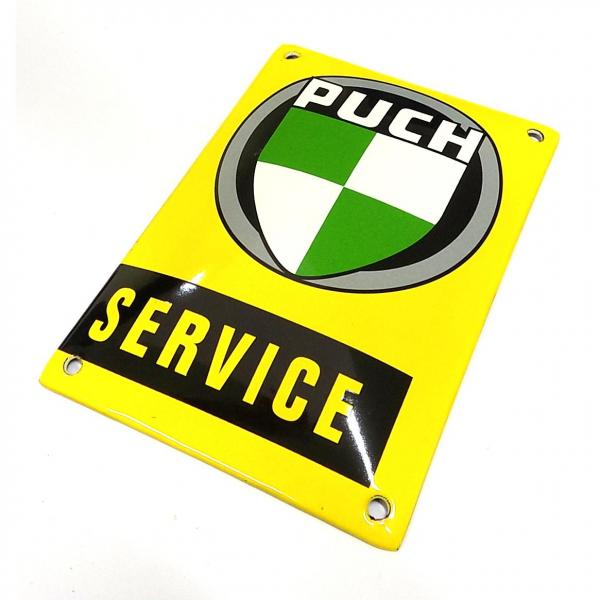 "Tin Sign Enamel ""PUCH SERVICE"""